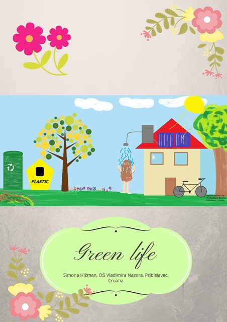 Canva poster - eTwinning project Where is my green environment?