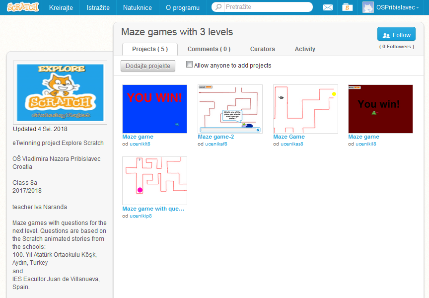 Scratch studio maze games