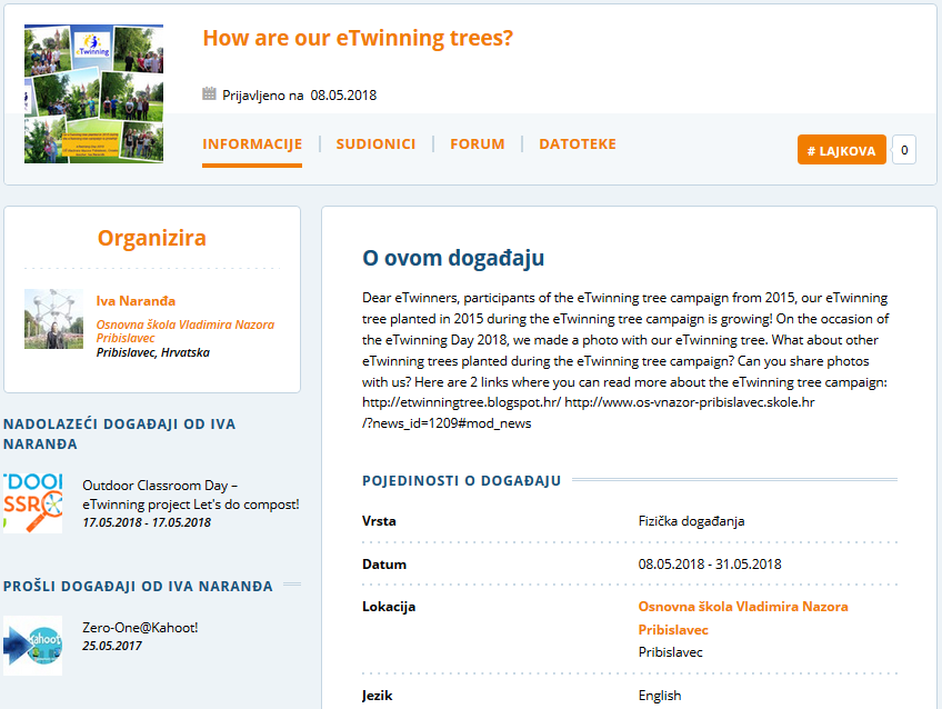 eTwinning Event How are our eTwinning trees?
