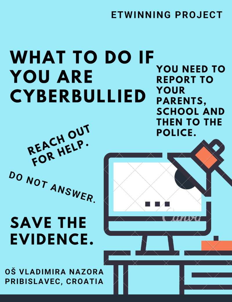 Cyberbullying Canva poster eTwinning
