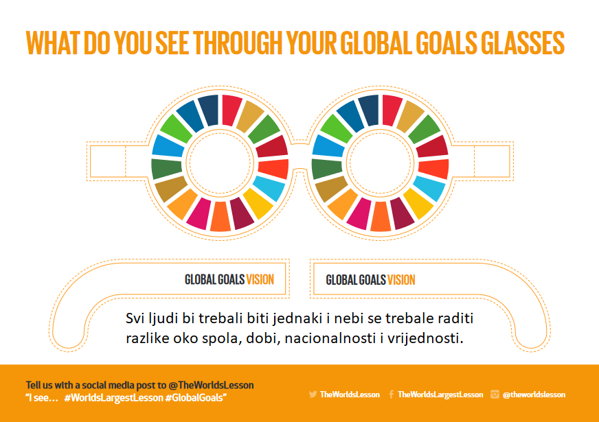 What do you see through your global goals glasses